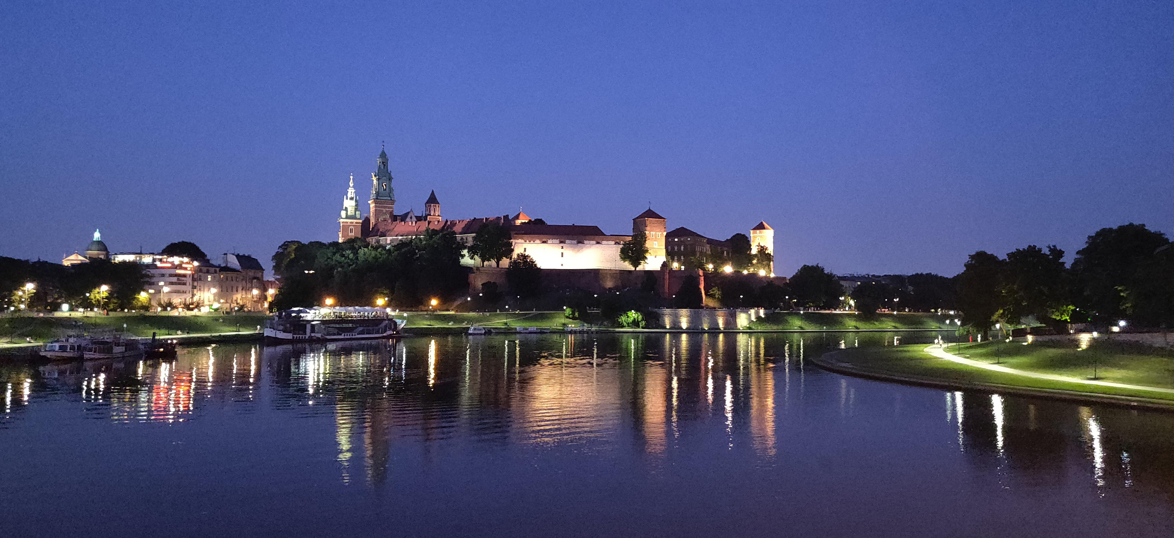 Wawel Royal Castle, seen from the Vistula river